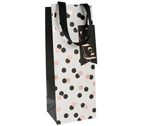 gift bag - bottle - confetti black/gold