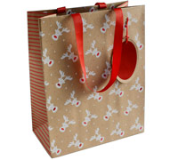 gift bag - large - rudolph