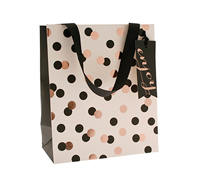 gift bag - medium - confetti black/gold