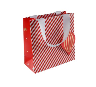 gift bag - small - candy cane