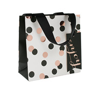 gift bag - small - confetti black/gold