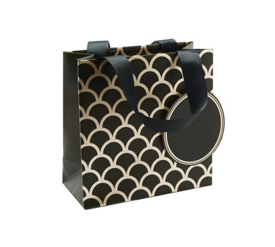 gift bag - small - upscale - black/gold