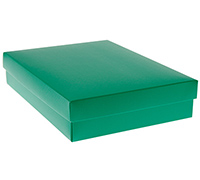 gift box - book (A5) - emerald (textured)
