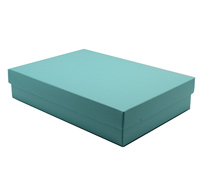 gift box - book (A5) - mint (textured)
