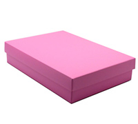 gift box - book (A5) - pink lavender (textured)