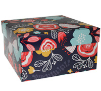 gift box - cake - full bloom