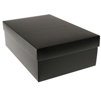 gift box - shoe - blackout (textured)