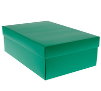 gift box - shoe - emerald (textured)