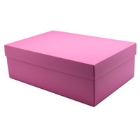 gift box - shoe - pink lavender (textured)