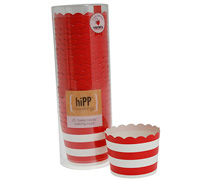 baking cups - red stripe