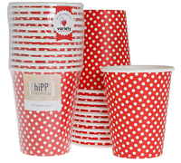 cups 250ml / 9oz - red polkadot