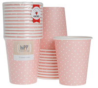 cups 250ml / 9oz - sweet pink-dot