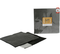napkins reversible 3ply - black-polkadot/splice