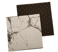 napkins - reversible 3ply - marble/black pegboard