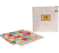napkins reversible 3ply - sprinkles/mosaic