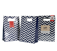 party bags & seals - navy chevron