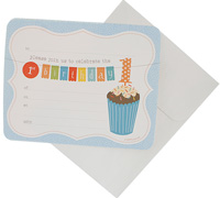 invitations - 1st birthday - blue
