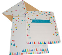 invitations - confetti - multi