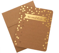invitations - confetti/kraft and foil