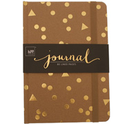 journal - A5 - kraft/gold foil
