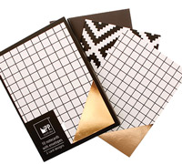 notecards - off the grid & foil aztec