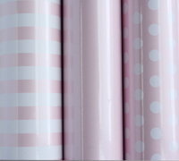 roll wrap - 5m baby essentials pink collection