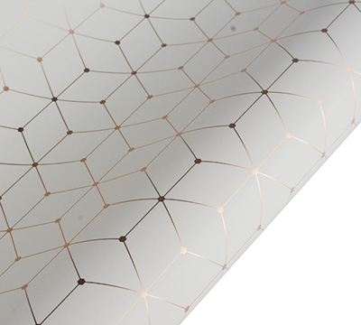 roll wrap - 5m hex - creme/gold