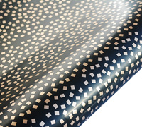roll wrap - 5m square confetti - black/gold