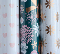 roll wrap - 5m flower burst collection