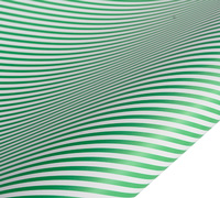 roll wrap - 5m humbug stripe - green