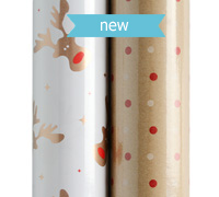 roll wrap - 5m rudolph gold collection