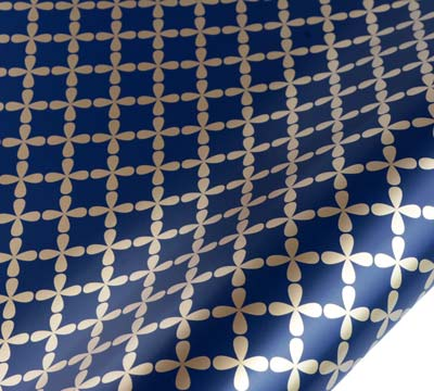 roll wrap - 5m clover - navy/gold