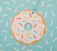 gift tag - donut