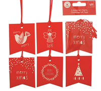 gift tag - variety - festive fun - assorted (5s)