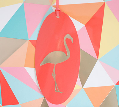 gift tag - flamingo
