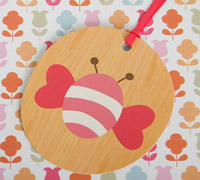 gift tag - littlies - bee