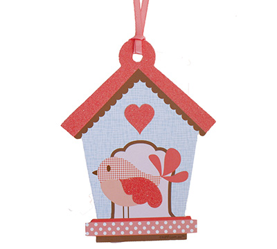 gift tag - little people - bird