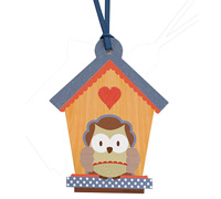 gift tag - little people - owl