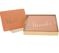 boxed thank you cards - peach/gold