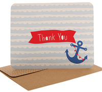 thank you cards - anchors away