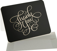 thank you cards - black/gold