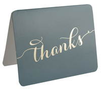 thank you cards - charcoal grey/gold