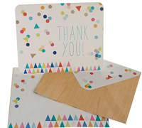 thank you cards - confetti multi