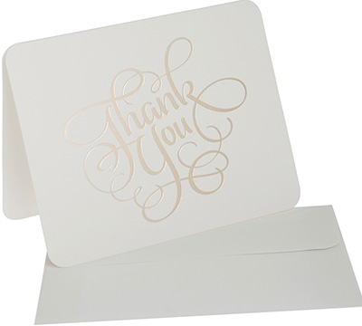thank you cards - creme/gold