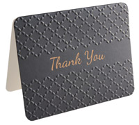 thank you cards - embossed - black