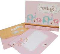 thank you cards - special delivery - little girl