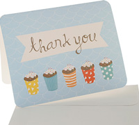 thank you cards - sprinkles - blue