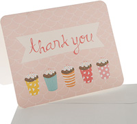 thank you cards - sprinkles - pink