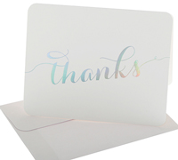 thank you cards - white/unicorn foil